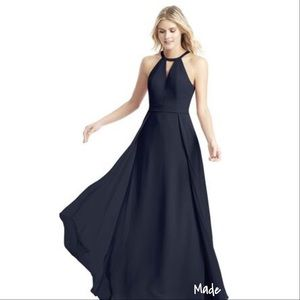 "Azazie ""melody"" gown / bridesmaid dress in Navy"